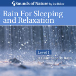 Rain for Sleeping and Relaxation Audio Sound Recording CD Cover